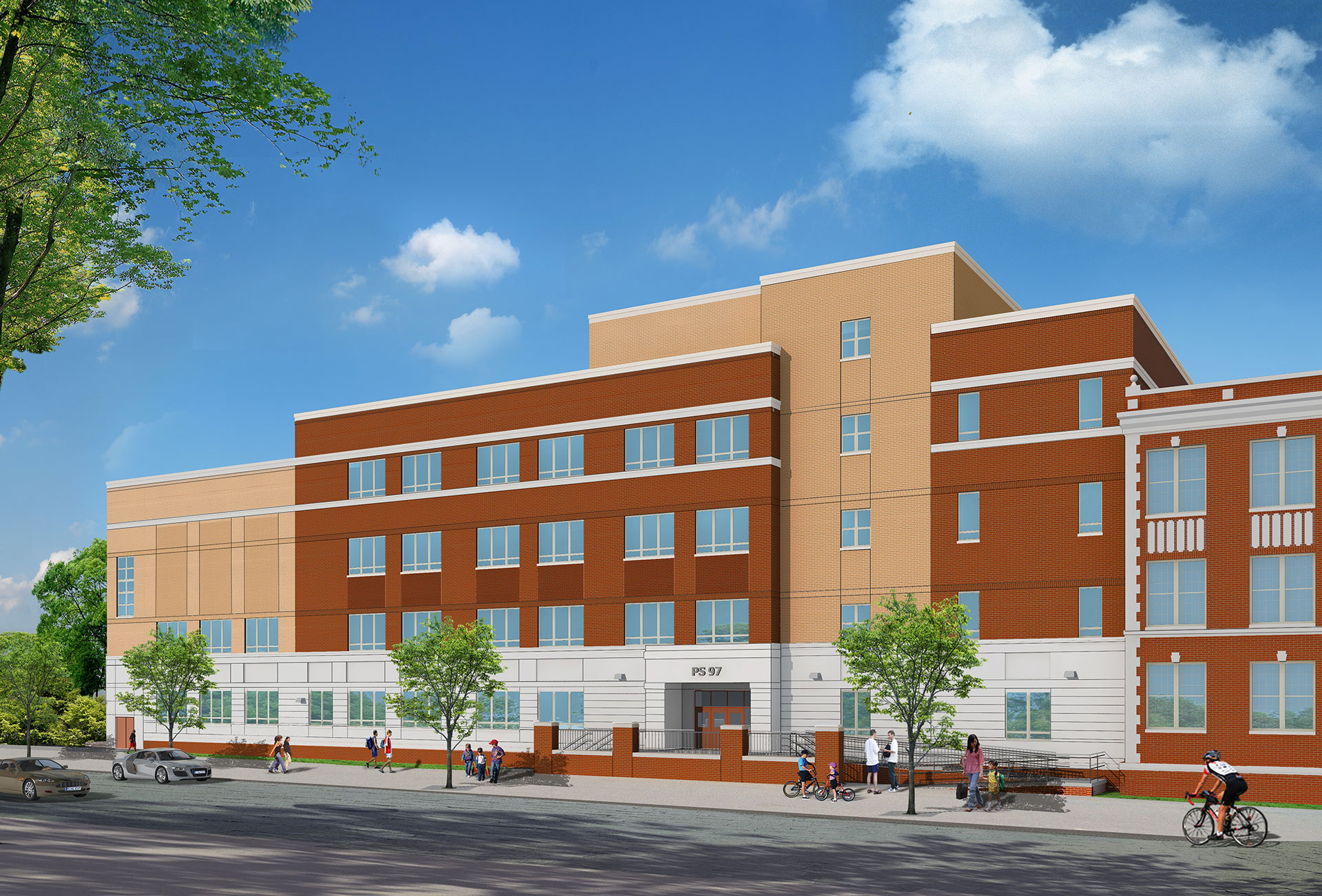 Rendering of PS 97 in the Bronx