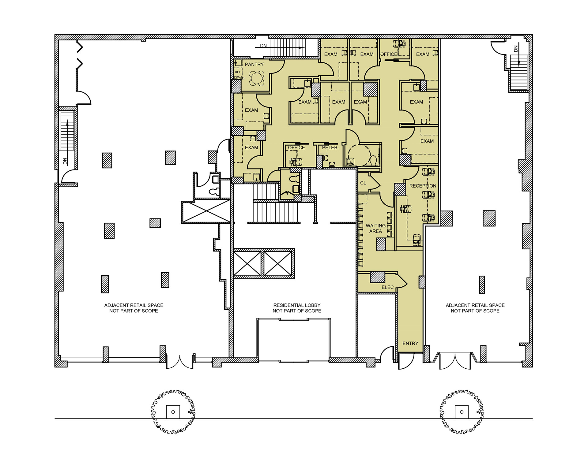 Floorplan of the medical offices at 111 Third Avenue