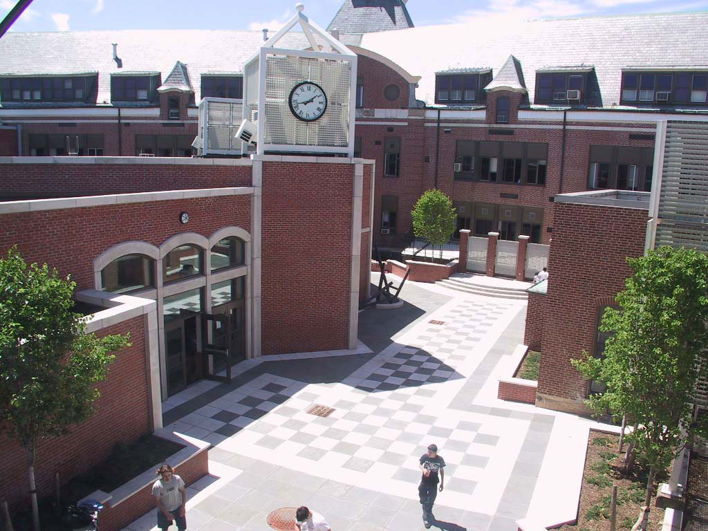 Ridgewood High School Campus Center Aerial View