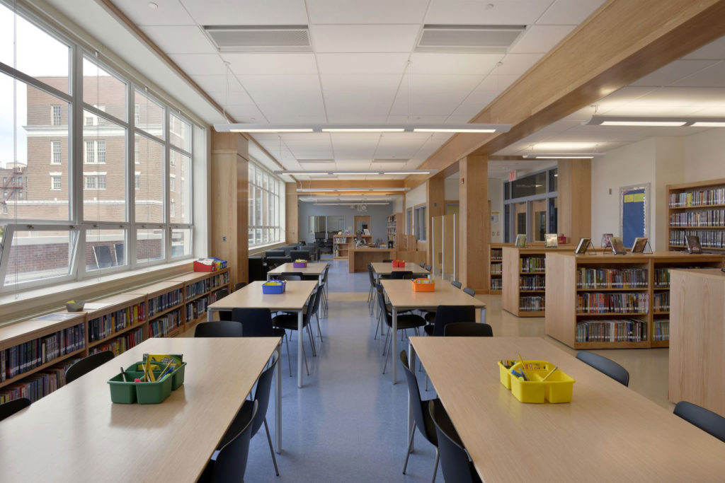 Library at IS 125 Queens