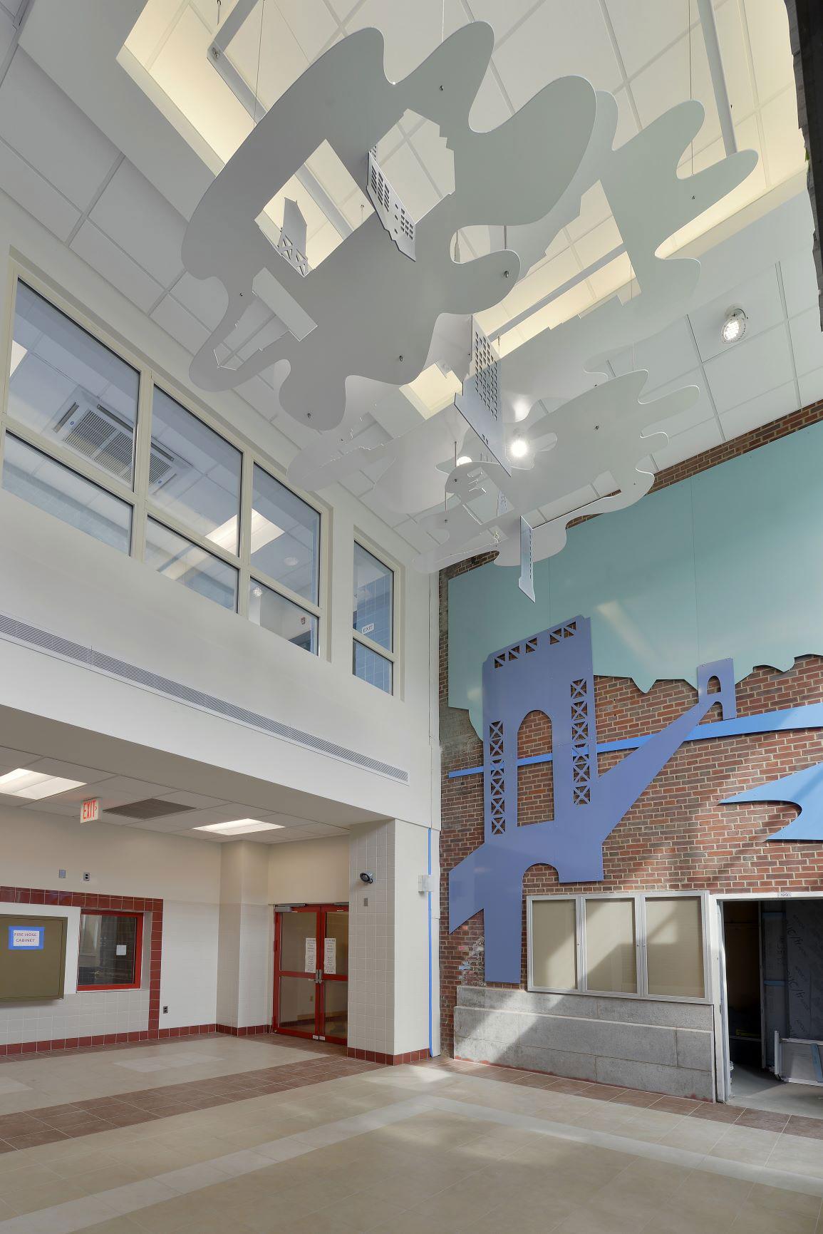 Atrium of IS 125 Queens