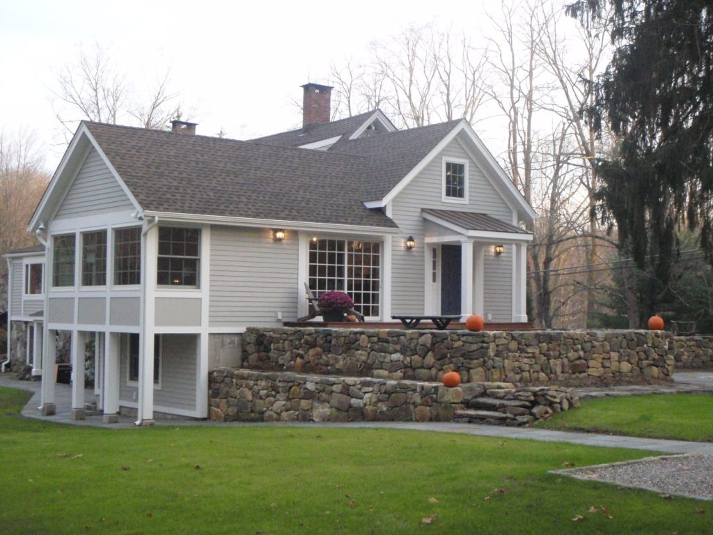 Side view of North Salem House renovations