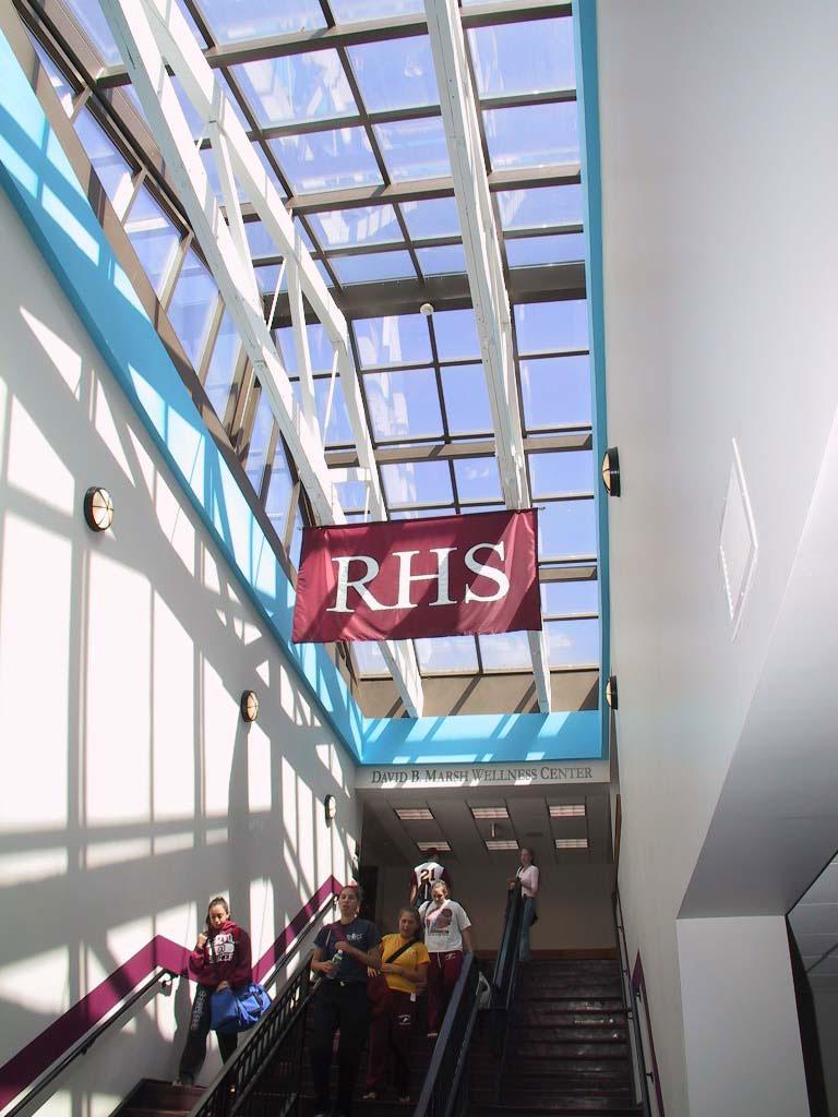 Ridgewood High School Banner in the Atrium