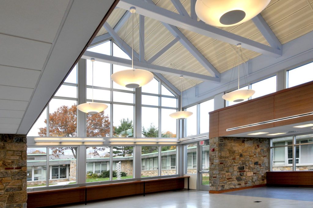 Interior Atrium at Westchester Community College Technology Building