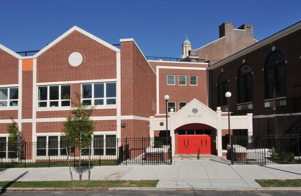 Front Entrance of PS 113 Queens