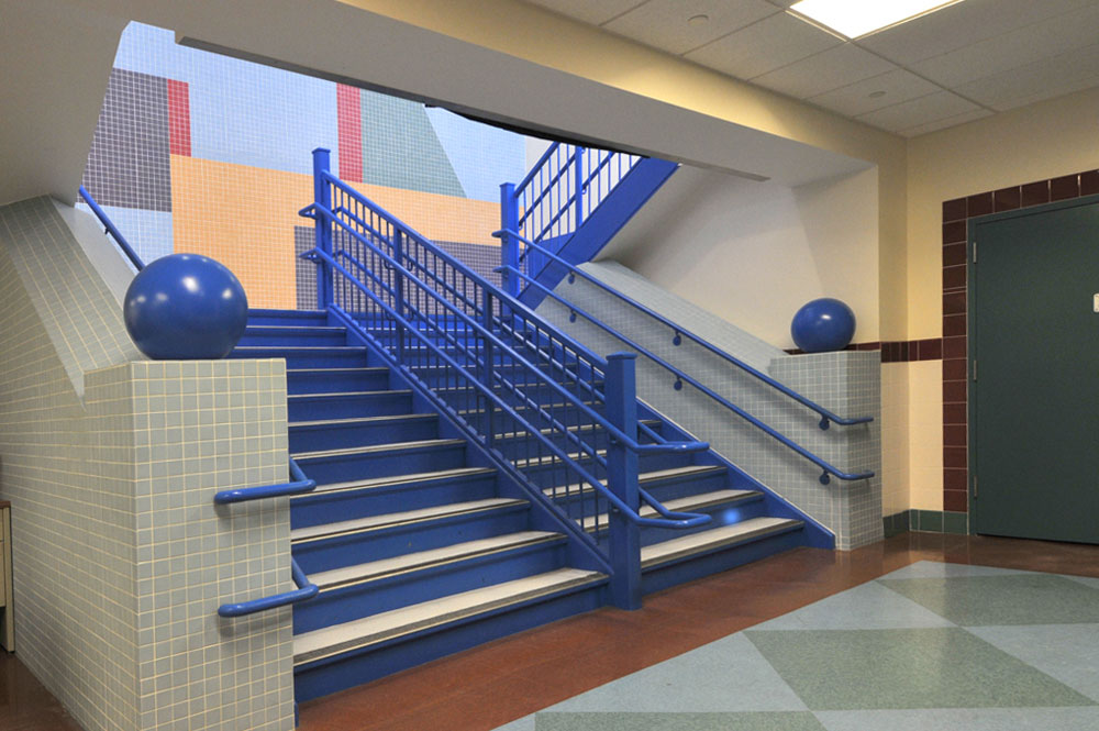 Interior Stairwell of PS 113 Queens